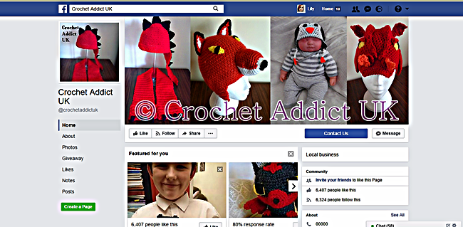 Crochet Addict Page Example